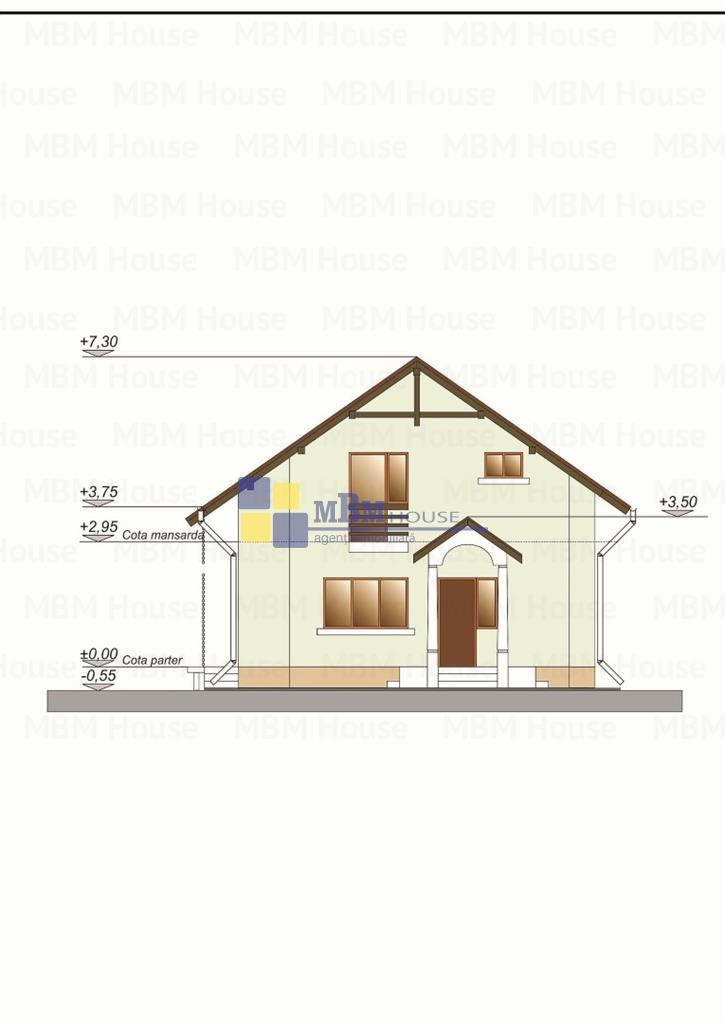 Casa cu teren, in stadiu de proiectzona Multiconstruct Sanpetru
